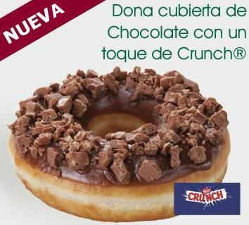 Dona cubierta de chocolate Crunch
